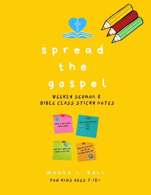 spread the gospel sermon & bible class sticky notes for kids