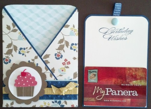 The insert or tag from this card can be used as a gift card holder.