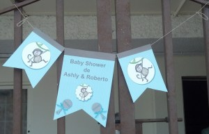 The baby shower took place in an event hall (I did mention that we celebrate in a big way) this sign was hung in the entrance.