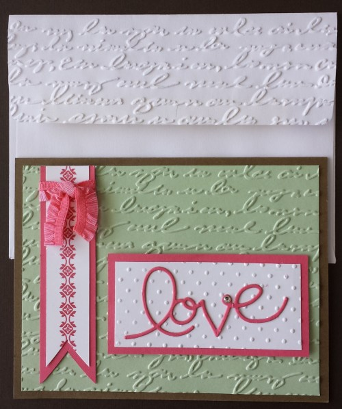 I love the new Expressions Thinlets Dies and they seemed to be a favorite at the class. Contact me for a complete list of the supplies used to make this card.