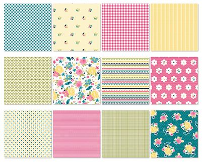 Gingham Garden Designer Series Paper - Digital Download - 134853