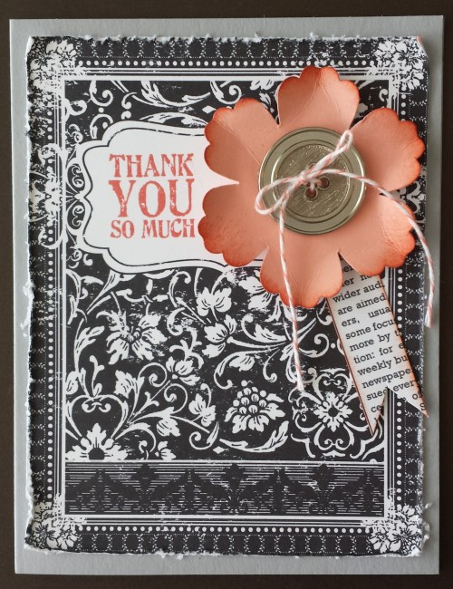 The Ex Libris Digital Download was perfect for this Thank You card.