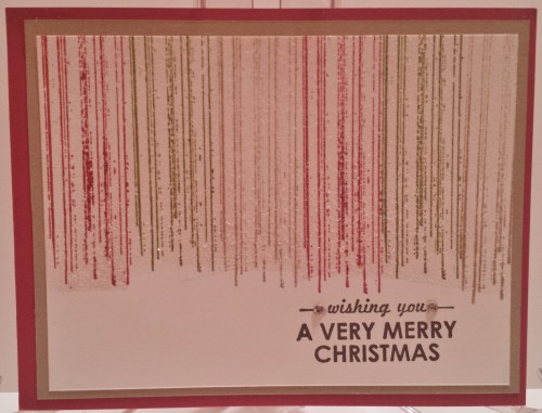 My friend Debra LaFountaine made this very pretty and shinny Christmas card