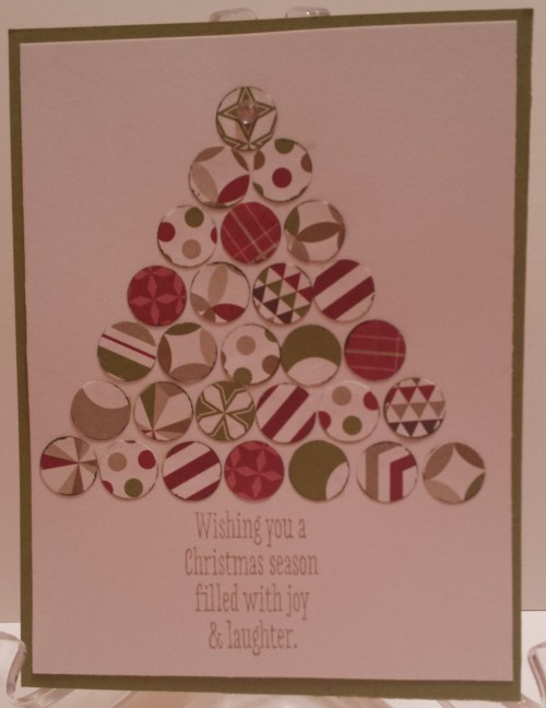 This cute Christmas Tree card was made by Sandra Lewis