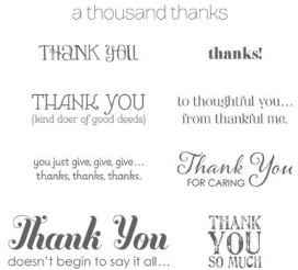 Lots of thanks