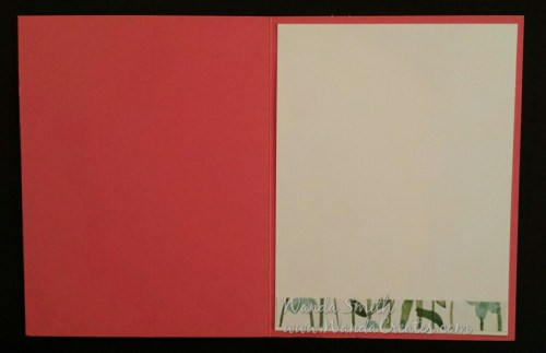 Use the leftover Designer Series Paper for a strip on the inside of the card