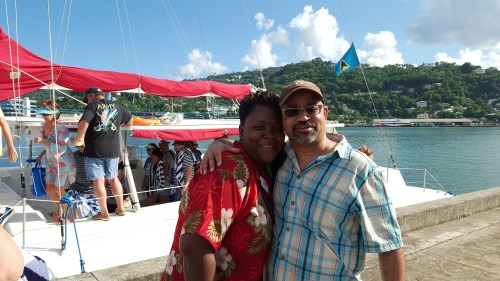 Darren and our tour guide in St. Lucia.
