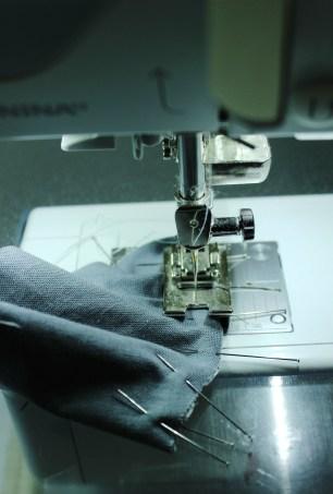 quarter circle pin and sew