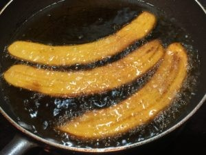 Platano maduro fritos