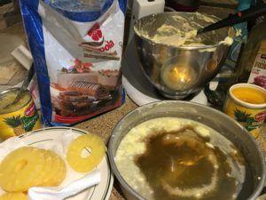 Ingredientes bizcocho de piña