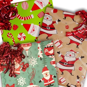 santa gift paper