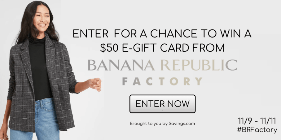 BANANA REPUBLIC FACTORY GIVEAWAY