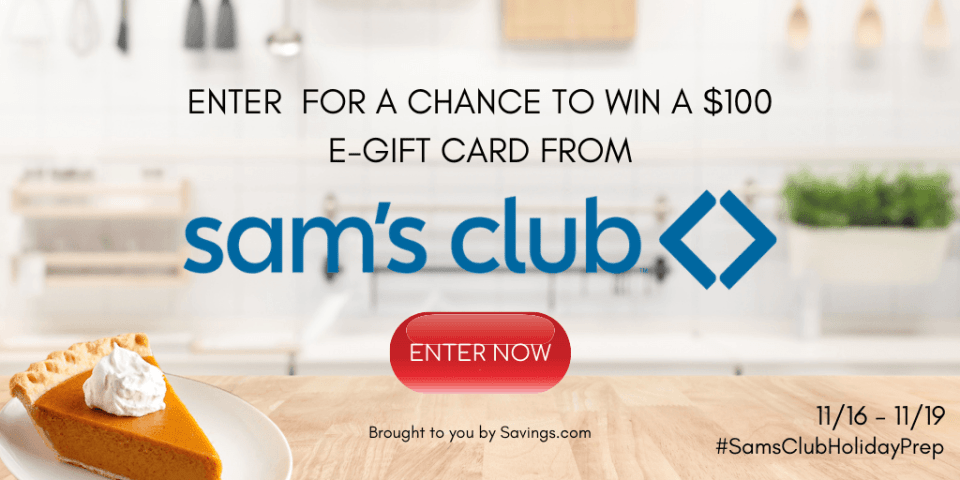 SAMS CLUB HOLIDAY PREP GIVEAWAY