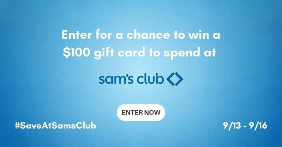 SAVE AT SAMS CLUB GIVEAWAY