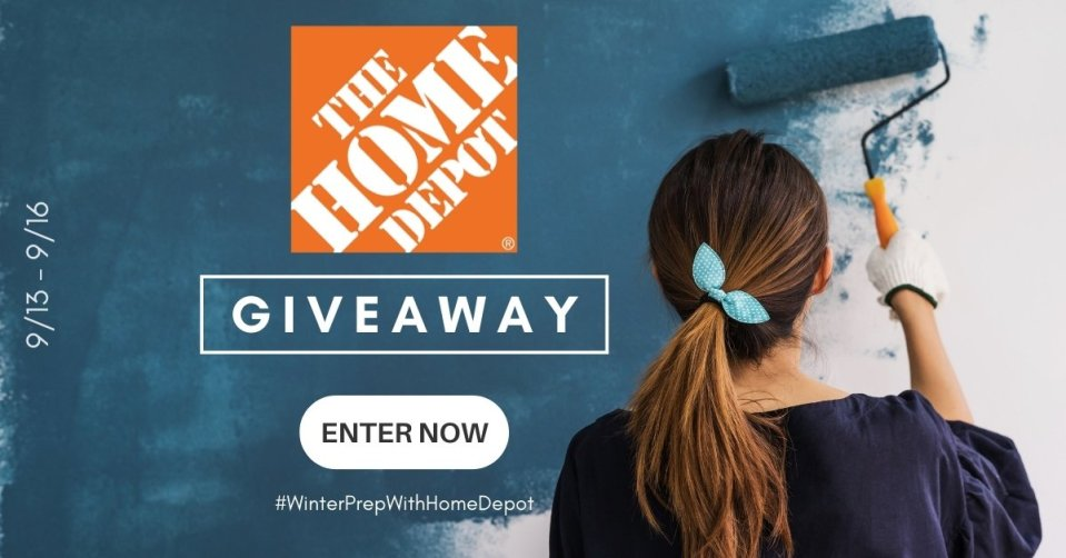WINTER PREP WITH HOMEDEPOT GIVEAWAY