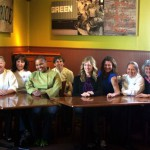 Wendy Brucker, Marsha McBride, Tanya Holland, Barbara Mulas, Rebekah Wood, Dona Savitsky, Maggie Pond, Cindy Lalime Krikorian at Brown Sugar Kitchen. Photo Wanda Hennig