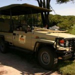 The game-spotting vehicle at Tembe.