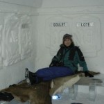 Ice hotel bedroom, Canada.