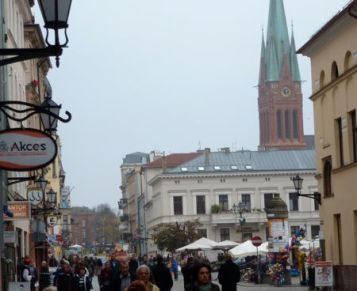 Toruń street scene.