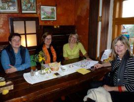 Lanckorona women promoting cuisine.