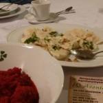 Lanckorona dinner at W Aroniach.