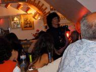 Inside the Dragâo de Alfama fado restaurant/tavern in the Alfama neighborhood.