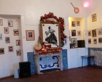 "Also inside the fado ""cathedral"" in the Mouraria neighborhood, honoring A Severa."