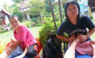 The bad foot massage part at Wat Chedi Luang, Chiangmai.