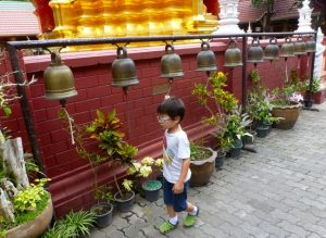 Temple Chaingmai with bells
