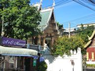 Massage salon next to Wat Chedi Luang, Chiangmai.