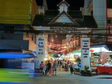 Entrance to the night bazaar Chiang Rai.