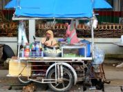 Kamala beach food vendors.