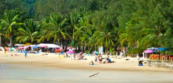 Kamala beach sunny day out of season.