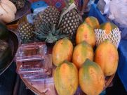 Fresh fruit always at the markets.