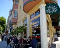 On Tom Medin Taste of the City tour of North Beach, San Francisco.
