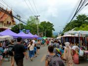 Early at the Chiangmai Sunday Walking Market.