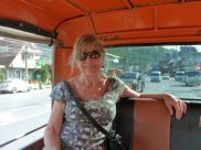 The author on a tuc-tuc to Patong.