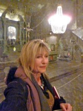 inside the Wieliczka Salt Mine cathedral