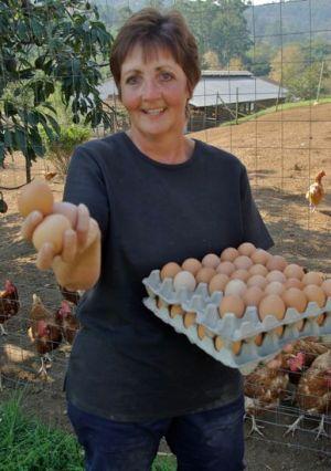 Egg lady Felicity Vonmoos.