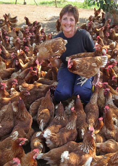 Felicity Vonmoos has chickens that scratch and bath in dirt.