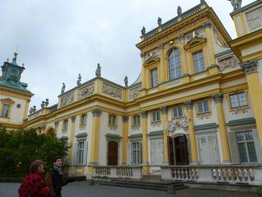 Outside Wilanów Palace, Warsaw.