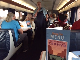 California Zephyr lunch.