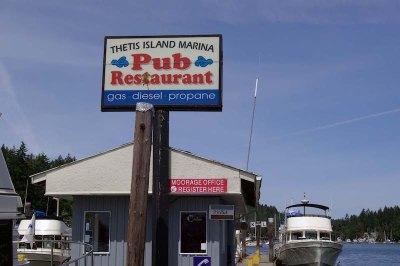 Eatery Thetis Island.