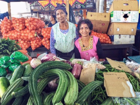 The Bangladesh Market is a haven of exotic food and exotic traders, such as these two veggie sellers.