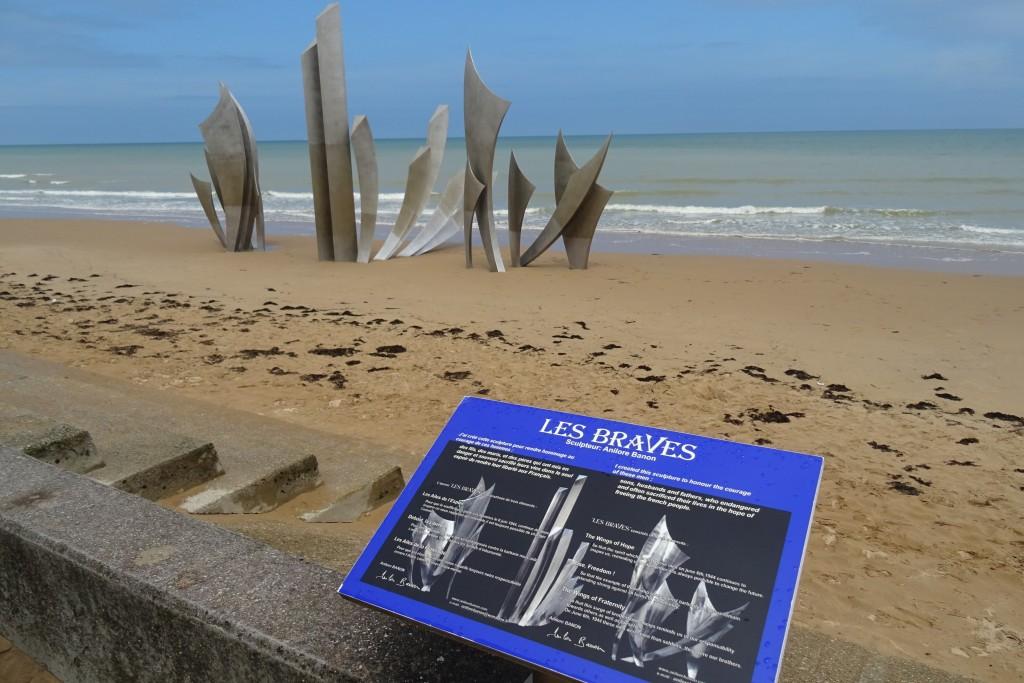 Omaha Beach invasiestrand Normandië