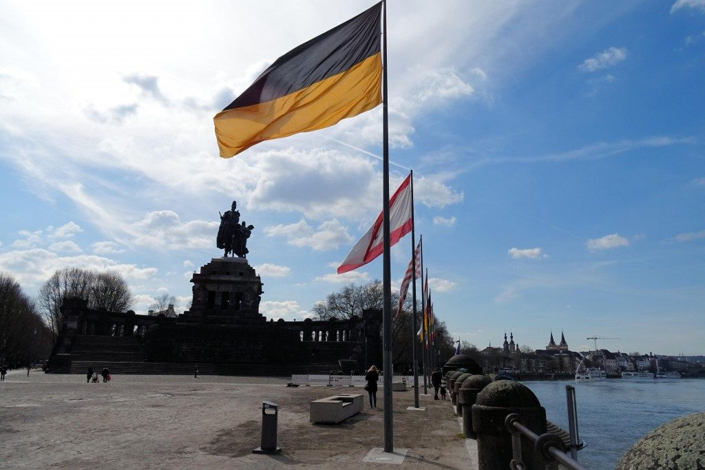 Deutsche Eck Koblenz Moezel Duitsland