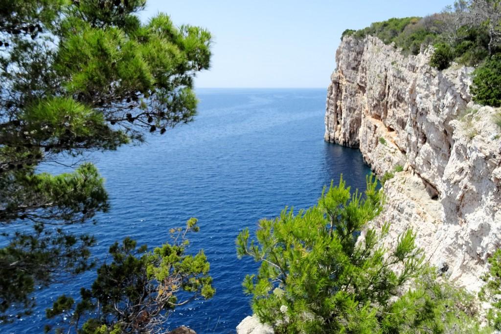Kliffen Kornati Eilanden Kroatië