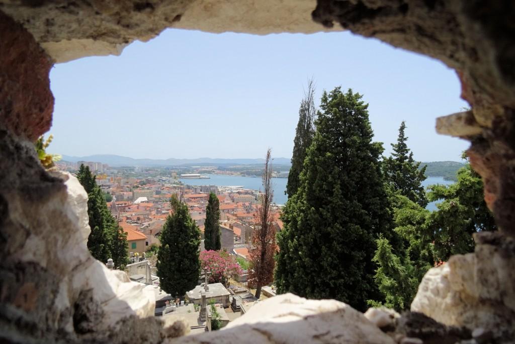 Uitzicht vanaf burcht St Michaels
