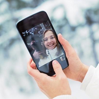 Photo smartphone in personal album