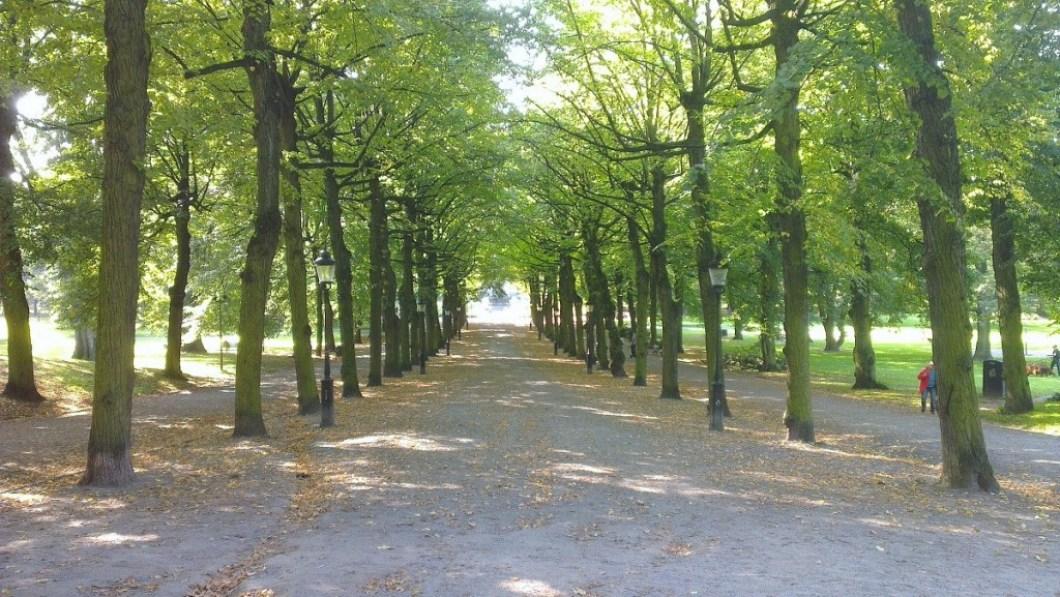 Wandelen door stockholm Humlegarden